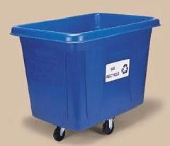 Blue Cube Recycling Truck